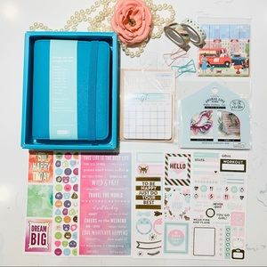 Kikkik planner set sticky notes, stickers, washi